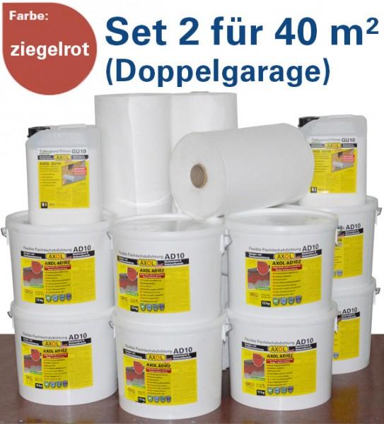 230€ sparen: Flachdach-Set 2 für 40m² (Doppelgarage) ziegelrot