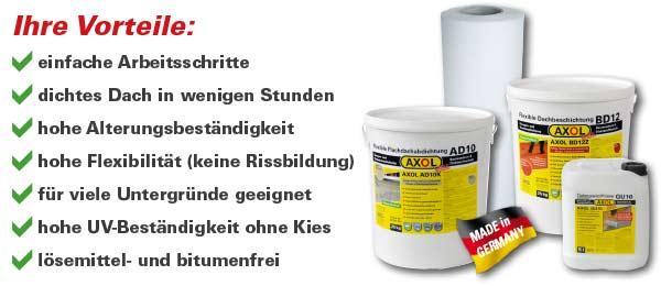 Bekannt Garagen: Flachdach abdichten, Faserzement/Eternit abdichten | AXOL OF78