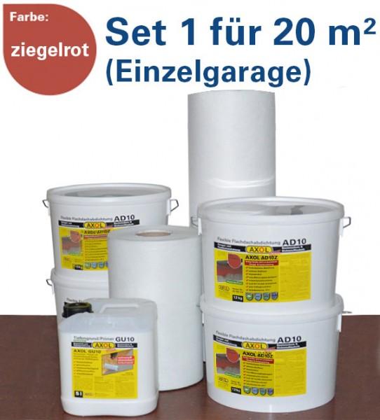130€ sparen: Flachdach-Set 1 für 20m² (Einzelgarage) ziegelrot
