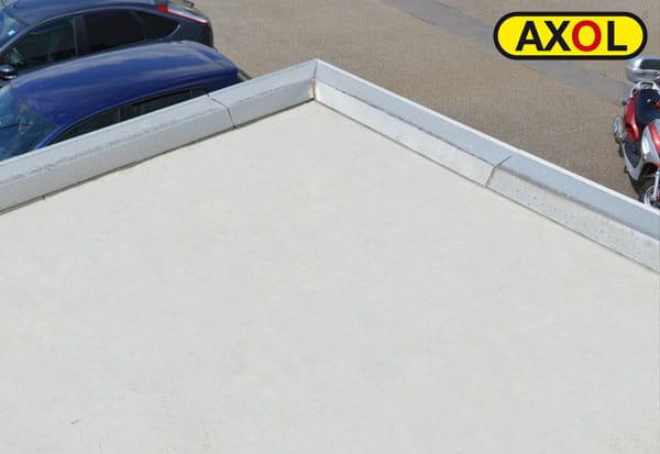 Undichtes Garagendach abgedichtet mit Flüssigkunststoff